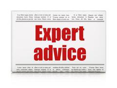 Stock Illustration of Law concept: newspaper headline Expert Advice