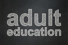 Education concept: Adult Education on chalkboard background - stock illustration