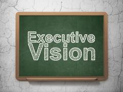 Stock Illustration of Business concept: Executive Vision on chalkboard background