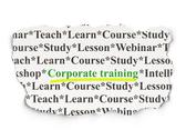 Stock Illustration of Education concept: Corporate Training on Paper background
