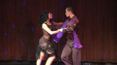 Tango Dancers Stock Footage