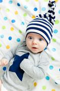 Eyed astonished baby Stock Photos