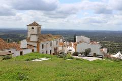Dramatic hillside at Evoramonte - stock photo