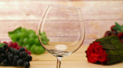 Pouring wine and rose HD Stock Footage