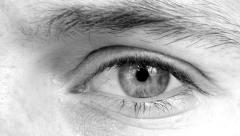 Black and White Eye Close Up - stock footage