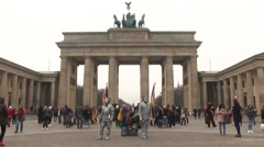 Berlin Brandenburger Tor Stock Footage