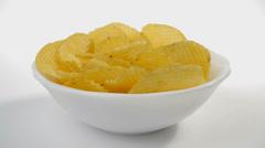 Potato chips Stock Footage