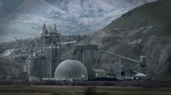 Cement Factory, Plant, Industry, Concrete, Dome, 4K Stock Footage