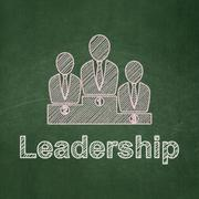 Finance concept: Business Team and Leadership on chalkboard background - stock illustration