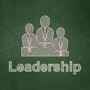 Finance concept: Business Team and Leadership on chalkboard background Stock Illustration