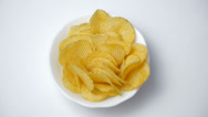 Stock Video Footage of Potato chips