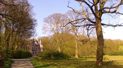Castle in the Groenenberg park. Stock Footage