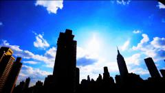 Empire State Building Time Lapse Stock Footage