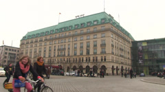 Hotel Adlon in Berlin Stock Footage