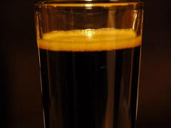 Dark Beer Pint Dolly 2 Stock Footage