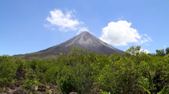 The famous Arenal Volcano in Costa Rica Stock Footage