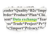 Stock Illustration of Data concept: Data Exchange on Paper background