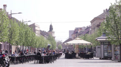 European City Downtown Stock Footage