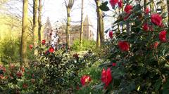 Castle in the Groenenberg park. Stock Footage