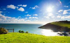 irish landscape. coastline atlantic coast county cork, ireland - stock photo