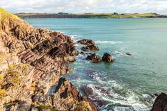 Irish landscape. coastline atlantic coast county cork, ireland Stock Photos