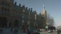 St Pancras station, London WS Stock Footage