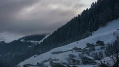 Tirol village of See dawn fog 4K UHD Stock Footage