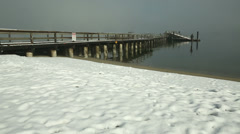 Jericho Pier, English Bay Winter Snow, Vancouver Stock Footage