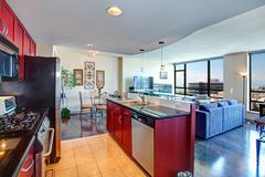 Modern apartment interior. Stock Photos