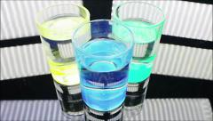 Drive glasses with alcohol Stock Footage