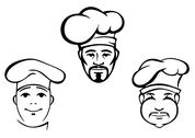 Stock Illustration of restaurant chefs