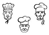 Stock Illustration of european restaurant chefs