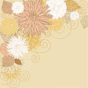 Stock Illustration of abstract flourish background