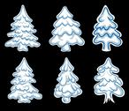 Stock Illustration of set of chistmas pines