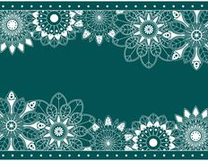 abstract border with floral elements - stock illustration