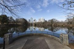 Atlanta piedmont park cityscape Stock Photos