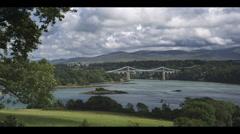 4K : wide, UK countryside scenery Stock Footage
