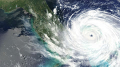 4k, timelapse of hurricane hitting the east coast of the usa wreaking floodin - stock footage