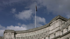 Admiralty Arch, Trafalgar Square Stock Footage