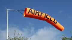 Airfield Windsock Stock Footage