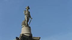 Nelson's Column in Trafalgar Square CU Stock Footage