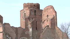 Eight hundred year old church ruin Stock Footage