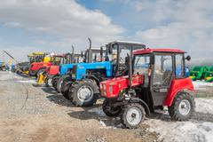 Agricultural machinery exhibition. Tyumen. Russia Stock Photos