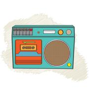 Vintage boom-box Stock Illustration
