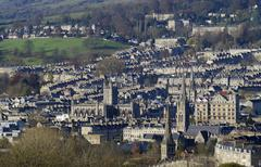 City of Bath. Avon. England - stock photo
