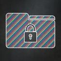Stock Illustration of Finance concept: Folder With Lock on chalkboard background