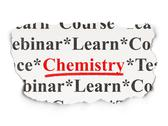 Stock Illustration of Education concept: Chemistry on Paper background