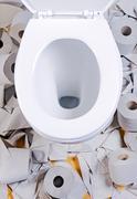 Open toilet bowl Stock Photos
