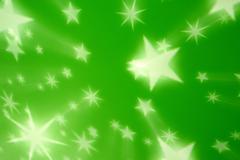 green star background - stock photo