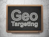 Stock Illustration of Finance concept: Geo Targeting on chalkboard background